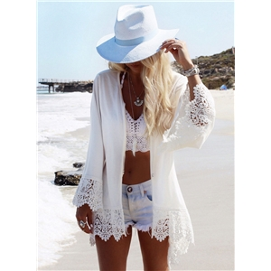 Eagle Printed Cover-up Beachwear Cardigan