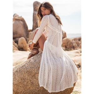 Boho Lace Beach Long Cardigan Dress