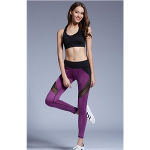 Net yarn splicing Slim simple sports yoga pants