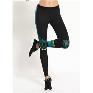 Stretchy Skinny Striped Yoga Running Leggings