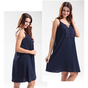 Beach solid color sleeveless dress