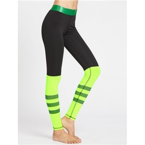 Color Block Cut And Sew Gym Leggings