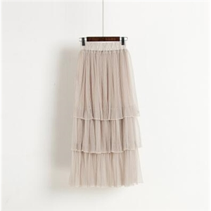 Thin gauze pleated cake skirt