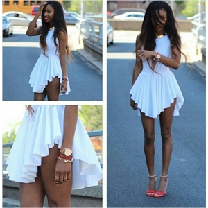 Sexy Women Lady Celeb Style Club Party Pleated Irregular Hem Mini Dress