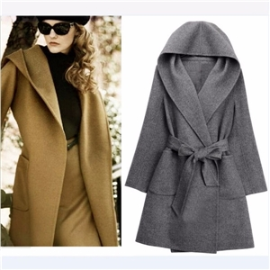 2017 woolen outerwear thickening woolen long design fashion plus size high quality double faced cashmere outerwear overcoat