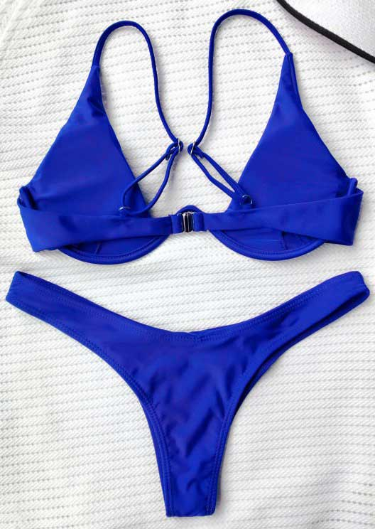 May 26th Suit Up Swing Style: Solid Adjustable Strap Bikini Set