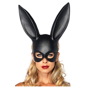 Top Grade Party Cosplay PVC Bunny Mask Adult Masquerade Sexy Girl Mask Black Rabbit Ear Mask Halloween