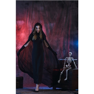 Gothic Witch Halloween Costume Sorceress Costume Adult Cosplay Wicked Fancy Dress