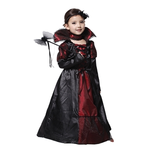 Children Girls Princess Vampire Costumes Children's Day Halloween Costume for Kids Long Dress Carnival Party Cosplay
