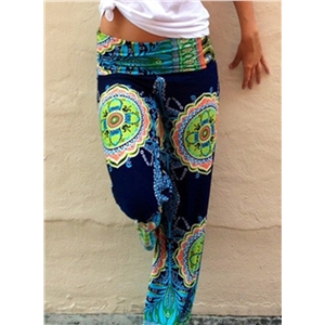 Casual Floral Printed Straight Pants