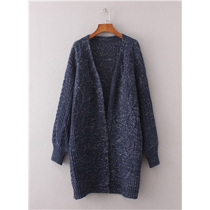V Neck Long Sleeve Solid Cardigans