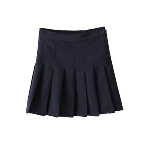 Sweet Solid Pleated Mini Skirt