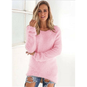 Fashion Pure Color High Low Sweater