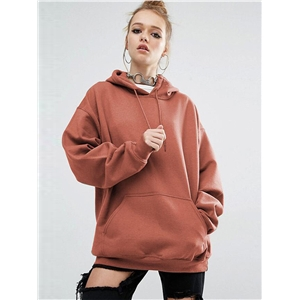 Europe Style Women Hoodies Autumn Winter Thick Long Pullover Tops With Batwing Slevee Oversized Grils Cool Outwear