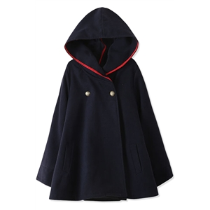 Essential Fashion Women Hooded Woolen Cape