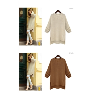 Women's Going out Casual/Daily Simple Regular Pullover Solid Round Neck Long Sleeves Sweater