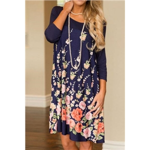Flower Prints Casual Dress