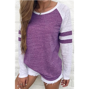 Patchwork Casual Style T-shirt