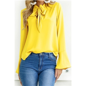Long Sleeve Solid Casual Shirts