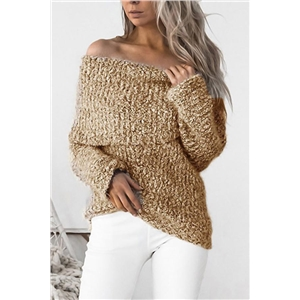 Knitted Long Sleeve Sweater Shirts