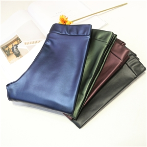 Colour Skinny PU Leather   Trousers Plus Size Slim Stretch Thin Black Faux Leather Pencil Pants
