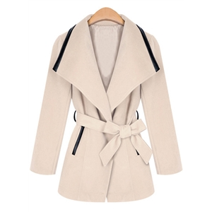 Fashion Woolen Coat with Belt