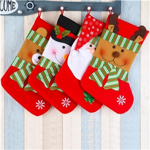Fashion Christmas Ornament Socks Gift Bag