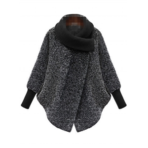 Fashion Cocoon Woolen Coat