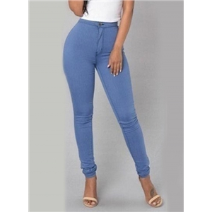 High Waist Skinny Fit Solid Pencil Pants