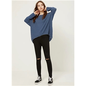 Fashion Loose Fit High Low Pullover Sweater