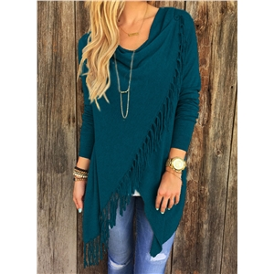 Fashion Irregular Top with Tassel