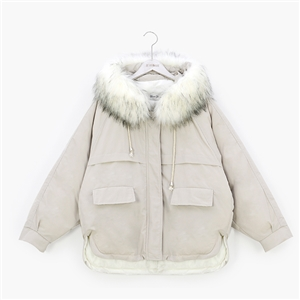 Fashion Faux Fur Hooded Parka Coat