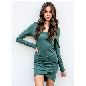Casual Long Sleeve Irregular Bodycon Dress