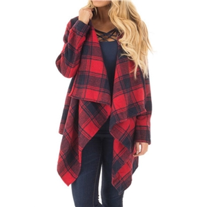 Plaid World Long Sleeves Cardigan