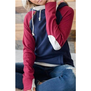 Stylish Patchwork Casual Hoodies