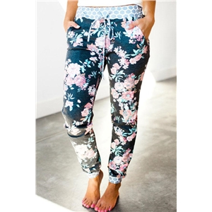 Floral Prints Loose Casual Pants