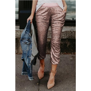 Rose Gold Sequins Pants