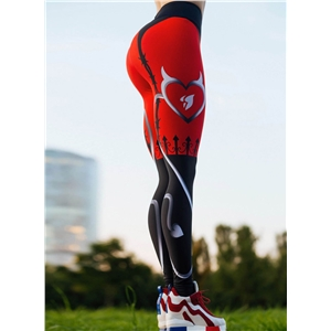 High Waist Printed Slim Fit Leggings