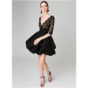 Half Sleeve Lace splicing Dress
