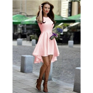 Fashion Sleeveless High Low Party Dress
