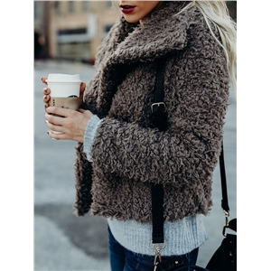 Autumn Winter Fluffy Jacket