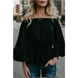 Flare Sleeve Off the Shoulder Blouse