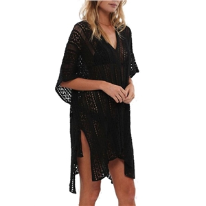 Asymmetric Hem V Neck Cover Up
