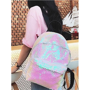 Sequin Detail PU Backpack