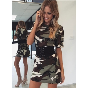 Fashion Short Sleeve Loose Fit Tee