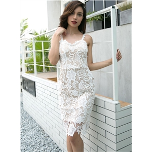 Spaghetti Strap Lace Skinny Dress
