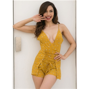 One Piece Spaghetti Strap Lacing Jumpsuits