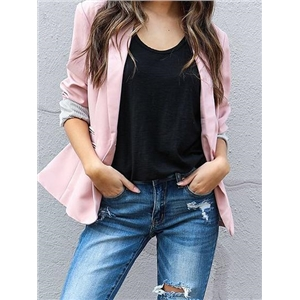 Lapel Button Front Blazer