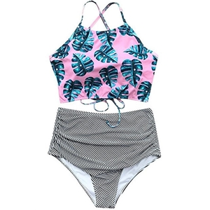 Fancy Things Leaf Print Two Piece Swimwear