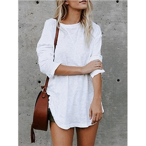 White Cotton Long Sleeve Chic Women Blouse